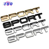 Car Styling 3D Zinc Alloy Badge Sticker For SPORT Logo Auto Emblem Decals Decoration For Land Rover Ferrari KIA Mazda BMW Toyota