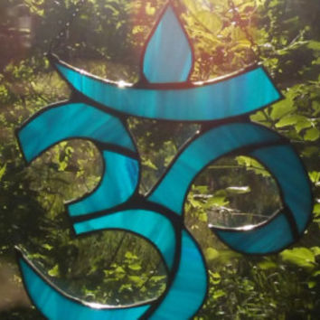 Stained Glass Om Sun Catcher