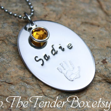 Mothers Necklace hand stamped jewelry handstamed by TheTenderBox
