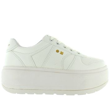Coolway Rush - Ice High Platform/Wedge Lace Sneaker
