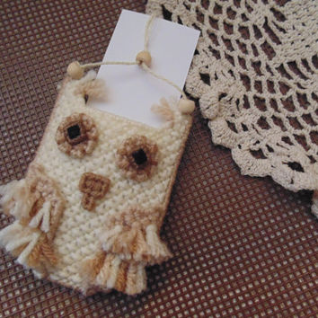 Boho Owl Ornament Business Card or Gift Card Holder Owl Decor