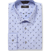 Paul Smith London - Blue Flower-Embroidered Cotton Shirt   MR PORTER