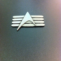 Sterling silver Star Trek pin- Star Trek insignia-Star Trek badge-Geekery-Geeky jewelry-Artisan jewelry