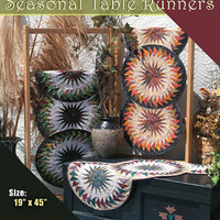 Pattern, Seasonal Table Runner,Judy Niemeyer Quilting, foundation paper piecing