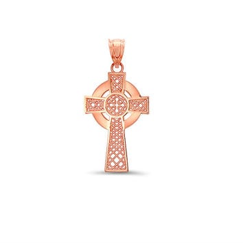 14k solid gold irish cross. irish jewlery, celtic cross, celtic jewelry
