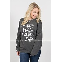 Happy Wife Happy Life Pullover