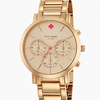 Kate Spade Gramercy Grand Chronograph Watch Rose Gold ONE