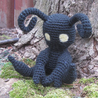 Kingdom Hearts Inspired: Shadow Heartless Amigurumi (Crochet Plushie/Plush Toy) - MADE TO ORDER