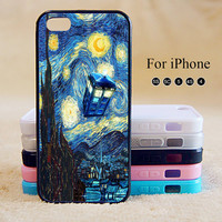 starry night ,Doctor Who,iPhone 5 case,iPhone 5C Case,iPhone 5S Case, Phone case,iPhone 4 Case, iPhone 4S Case,Case-IP002Cal