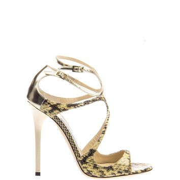 JIMMY CHOO Lance python leather sandal