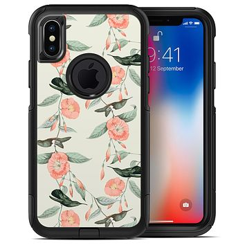 The Coral Flower and Hummingbird on Branches - iPhone X OtterBox Case & Skin Kits