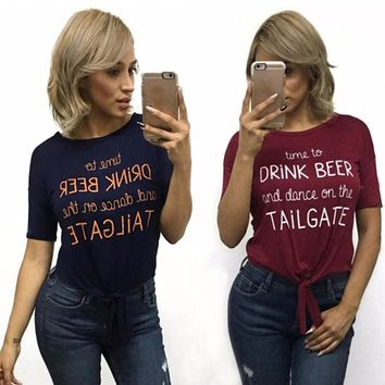 TIME TO DRINK BEER AND DANCE ON THE TAILGATE T-shirt