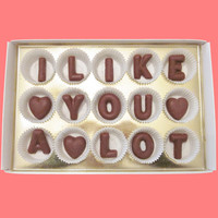 I Like You A Lot Large Milk Chocolate Letters