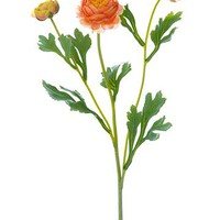 "Ranunculus Artificial Flower Spray in Orange - 20"" Tall"