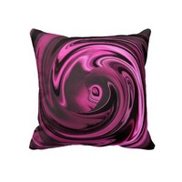 Abstract Face of Innocence in Pink Throw Pillow from Zazzle.com