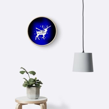 'Winter Deer ' Clock by Jessica Ivy