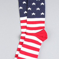 The American Flag Socks in Red, White, & Blue