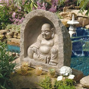 SheilaShrubs.com: The Great Buddha Garden Sanctuary Sculpture CS40170 by Design Toscano: Garden Sculptures & Statues