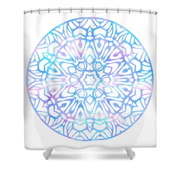 Tie Dye Mandala Shower Curtain
