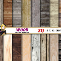 Wood digital paper, old rustic wood texture, wood background, wood planks, Scrapbooking Paper, patterns, grey,brown,distressed, wood grain