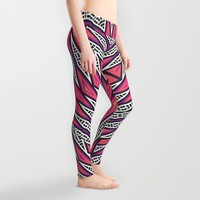 ZigZag Tribal Energy Leggings by Webgrrl