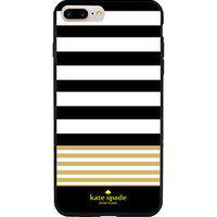 New Kate Spade Gold Stripes Pattern Hard Case for iPhone 6/6s 6s Plus 7 7 Plus