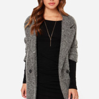 Partly Cloudy Oversized Grey Wool Coat