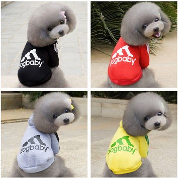 Pet Dog Clothes Puppy Coat Hoodies Cute Small Cat Clothing for Dog Hoodie Sportswear Spring Pet Apparel Outfit 25