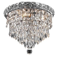 Karci - Flush Mount (4 Light Modern Flush Mount Crystal Chandelier) - 2148F10