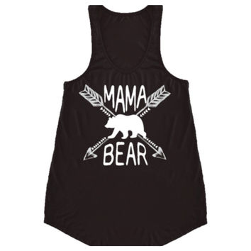 "Forever Me, MAMMA BEAR"" Black Sleeveless Top"