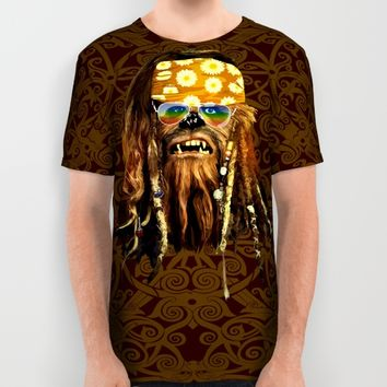 Hippie chewie iPhone 4 4s 5 5c 6, pillow case, mugs and tshirt All Over Print Shirt by Greenlight8 | Society6