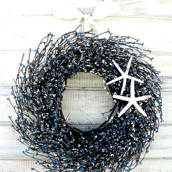 best light beach mesh boating blue doors wreaths wreath summer anchor front and coastal deco in navy decor nautical door