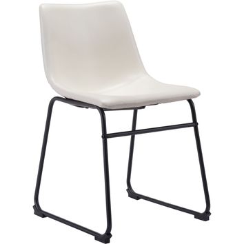 Smart Dining Chair, Distressed White