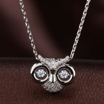 Owl Eyes swarovski crystal necklace
