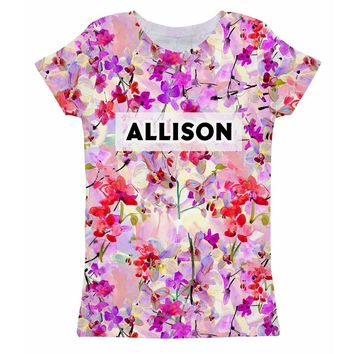 Orchid Caprice Customized NAME Zoe T-Shirt - Girls