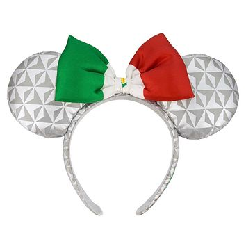 Disney Parks Epcot Mexico Flag Minnie Mouse Ears Headband New with Tags