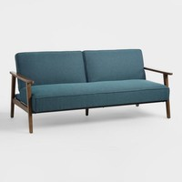 Midnight Blue Xander Convertible Loveseat