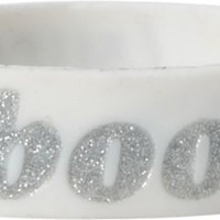 Keep A Breast White & Silver Glitter I Love Boobies Bracelet