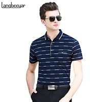 Men Striped Polo Shirts Summer Men Polo Shirt Brands Short Sleeve Men Clothes