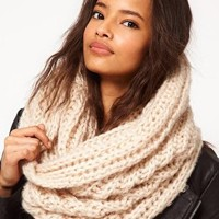 ASOS Extra Long Funnel Knit Snood at asos.com