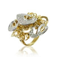 Orlando Orlandini Designer Rings Fashion - Diamond 18K Gold Charm Ring