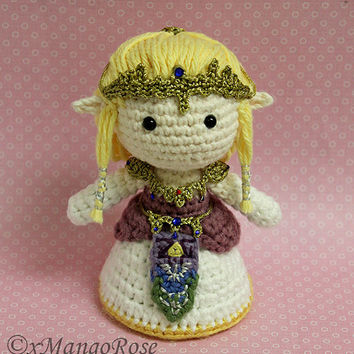Princess Zelda Amigurumi Doll Plush (Crochet Pattern Only, Instant Digital Download)