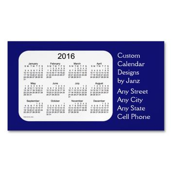 2016 Midnight Business Calendar by Janz Magnet Magnetic Business Cards (Pack Of 25)