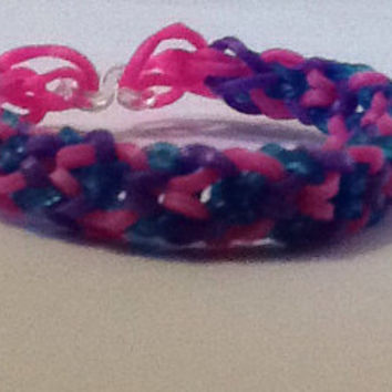 Custom Unique Rainbow Loom Bracelet