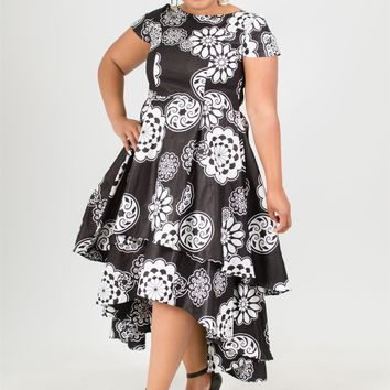 NF 7052X Authentic African Print PlusSize Dress