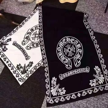 """Chrome Hearts"" Autumn Winter Fashion Warm Cashmere Cape Scarf Scarves Shawl Accessories"
