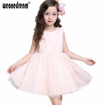 WEONEDREAM Hot Pink First Communion Dresses for Girls 2017 Flower Girl Dresses with Bowknot High Quality Girls Pageant Dresses