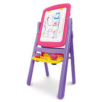 Imaginarium Flip and Fold Double-Sided Easel - Pink
