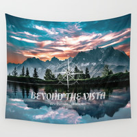 'Beyond The Vista' Outdoor Adventure Landscape Wall Tapestry by inspiredimages