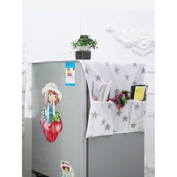 Star Print Refrigerator Dust Cover